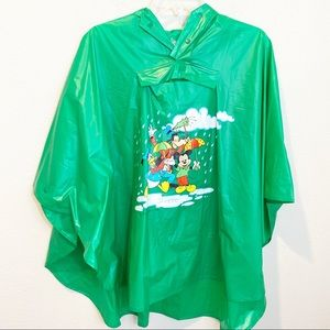 Vintage Disney and Pals Rain Poncho with Hoodie